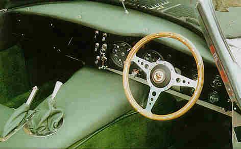 Jaguar Xkss. Jaguar XKSS dashboard